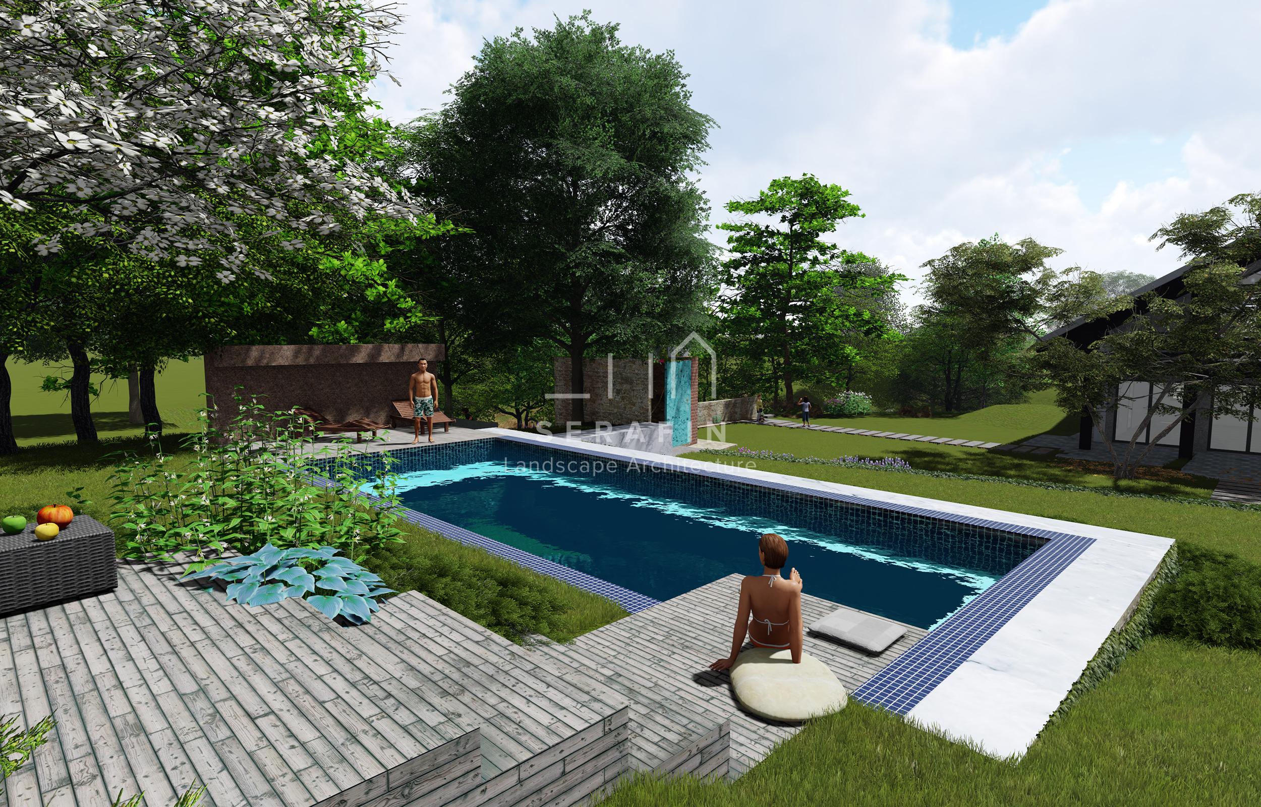 Giardino alpino simone serafin outside designer - Giardino con piscina ...