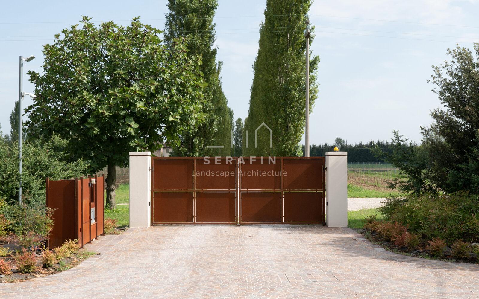 progetto ingresso abitazione privata con siepe campestre - 4