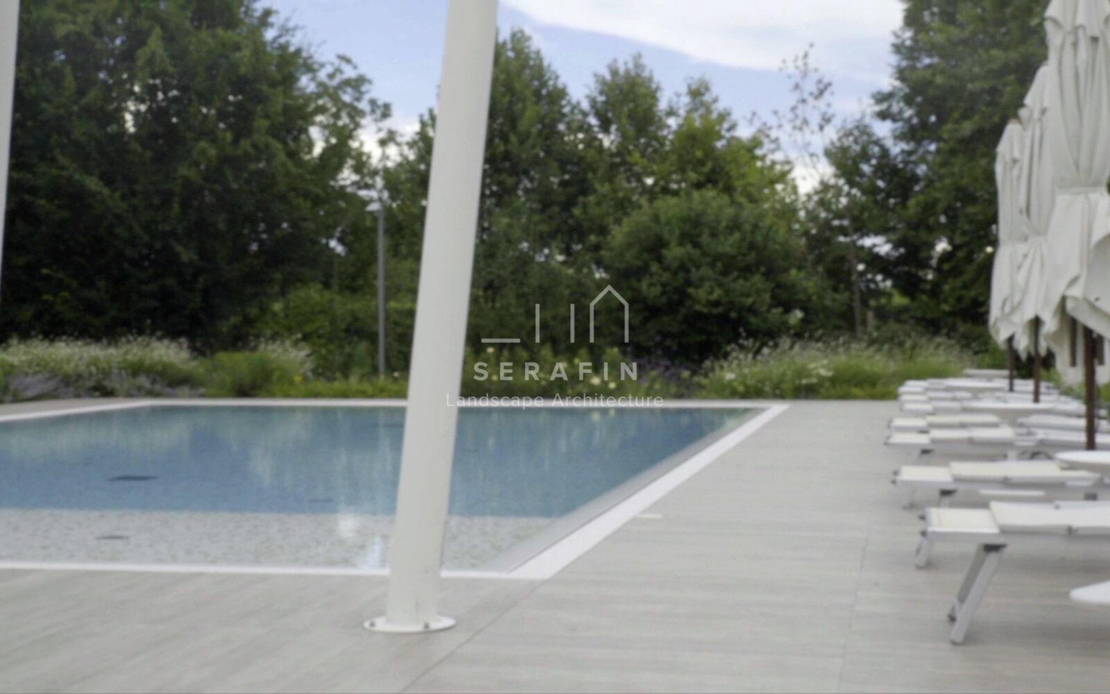 giardino di lusso con piscina - 1