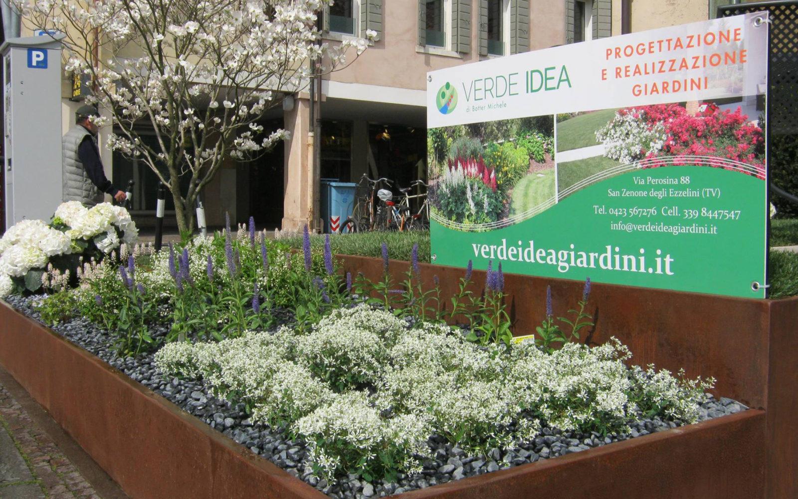 allestimento giardino Verde Idea a Castelfranco Veneto 2016 - 2