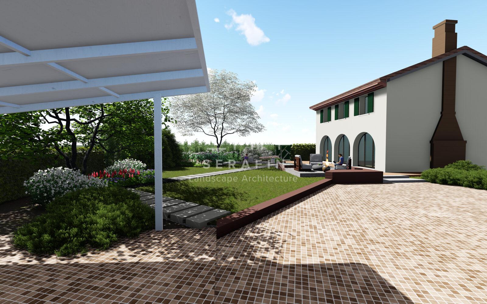 progetto di un giardino privato a padova -1