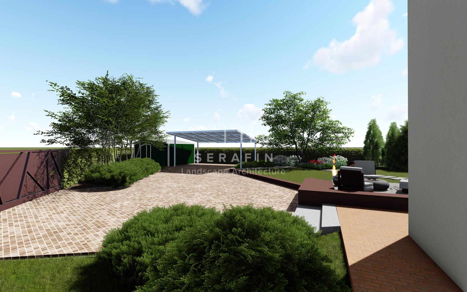 progetto di un giardino privato a padova - 3