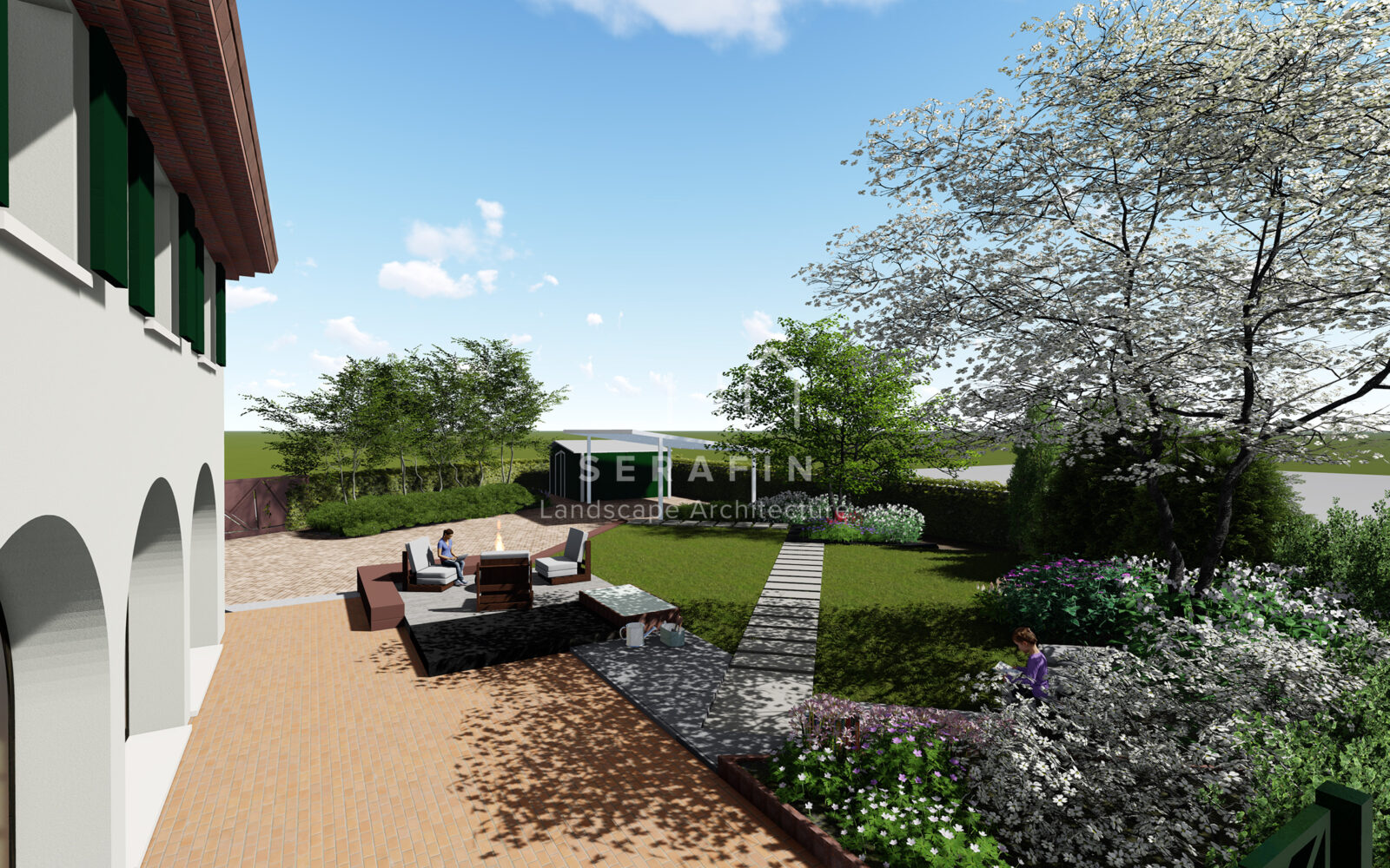 progetto di un giardino privato a padova - 6