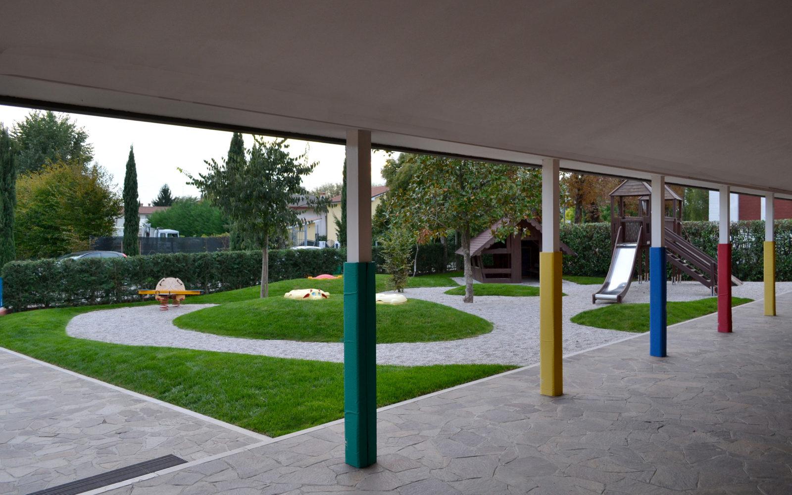 giardino ludico della scuola materna Pio X a Lancenigo di Villorba - 6