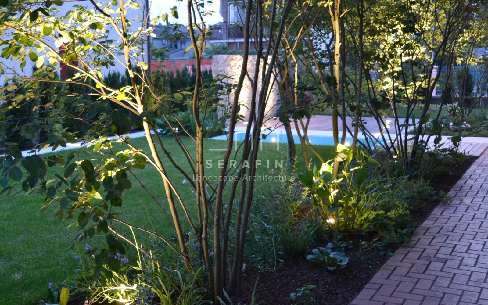 giardino privato con specchio d'acqua - 17