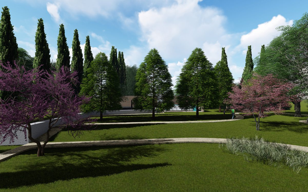 design and construction of public gardens in Treviso, Verona and Venice