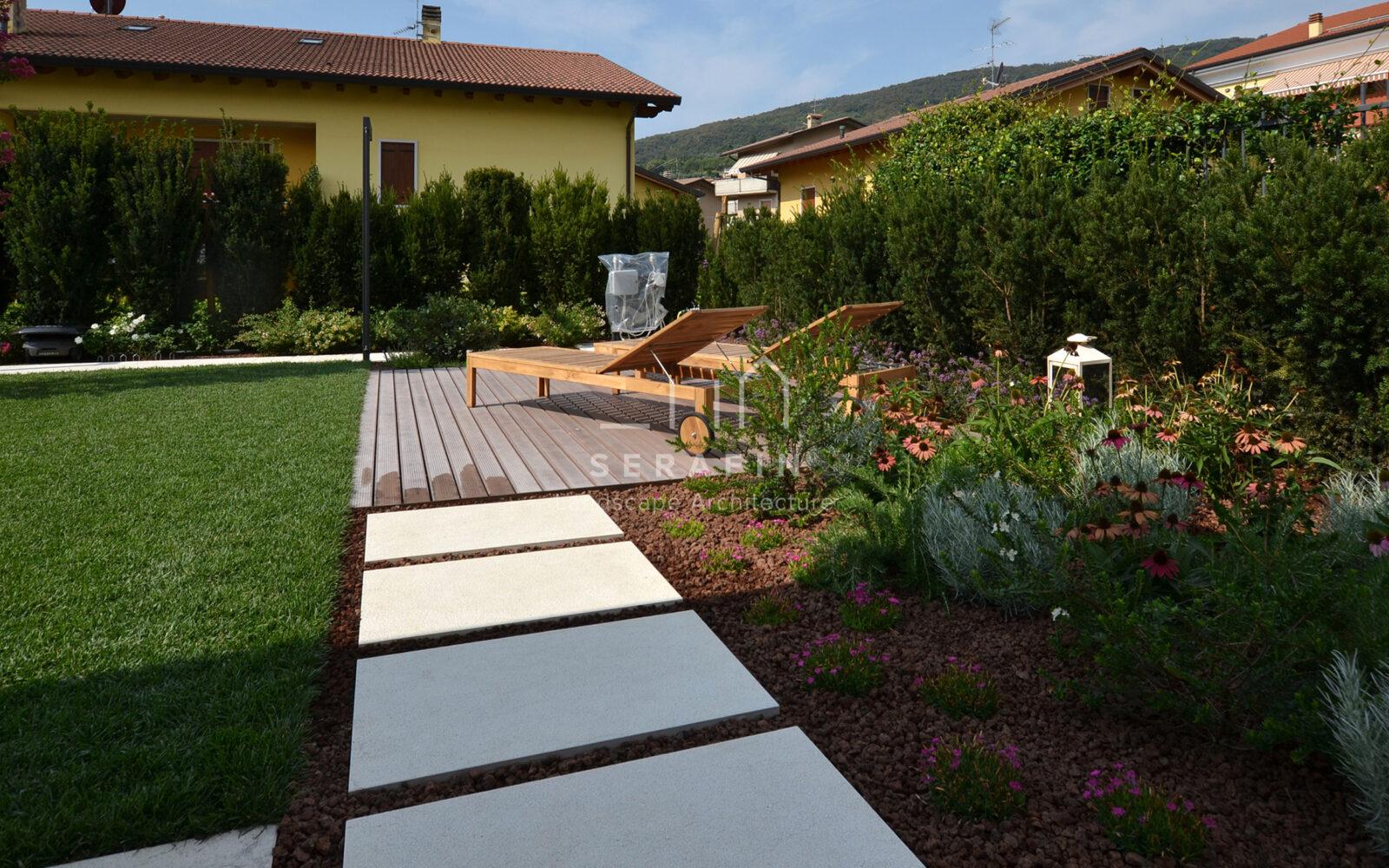 progettazione e costruzione di un giardino privato a Verona