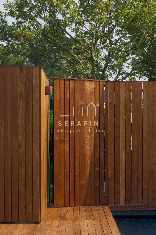 progetto giardino privato esclusivo con piscina a Santa Maria di Sala