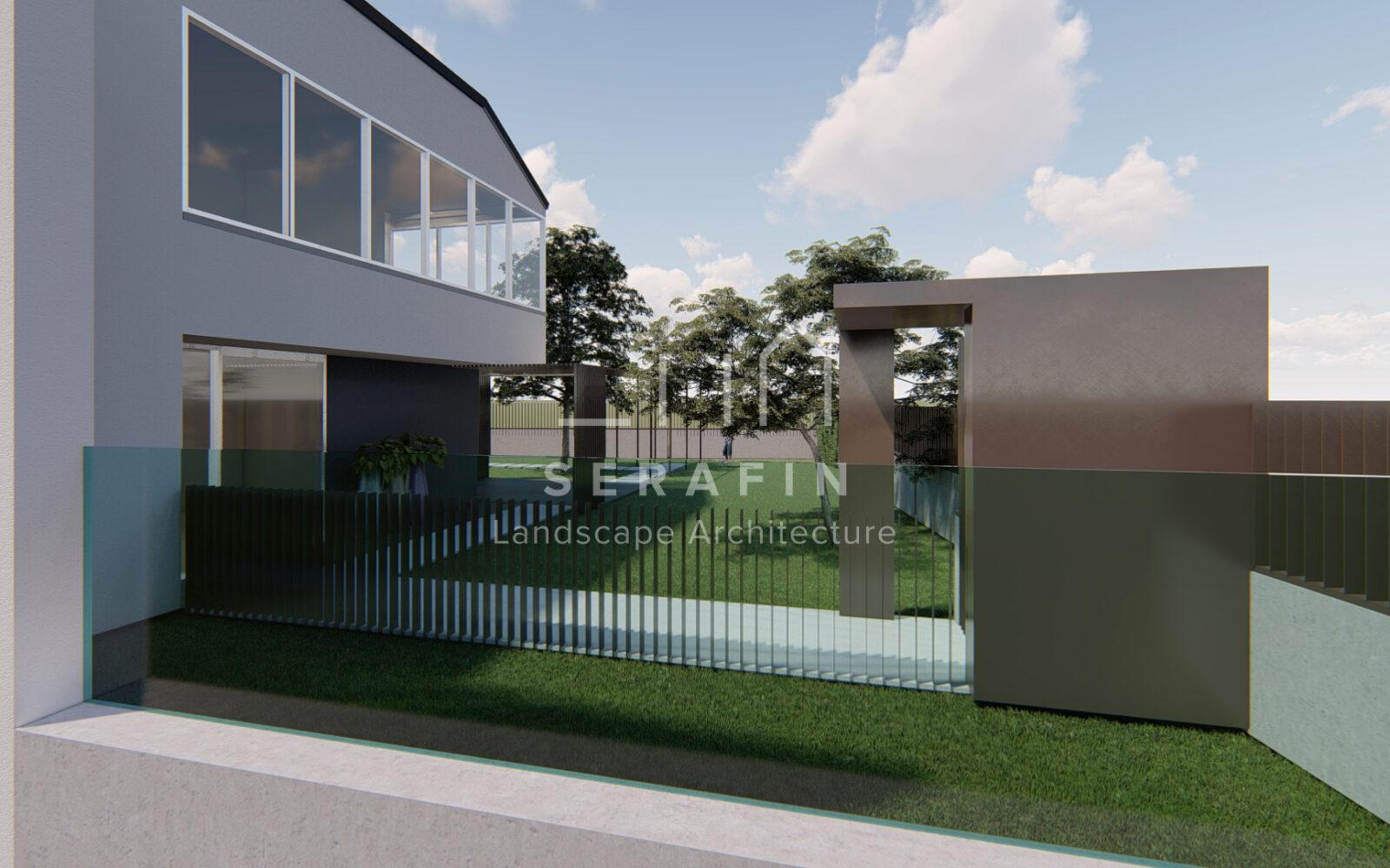 progettazione di un giardino privato a Sacile - 1