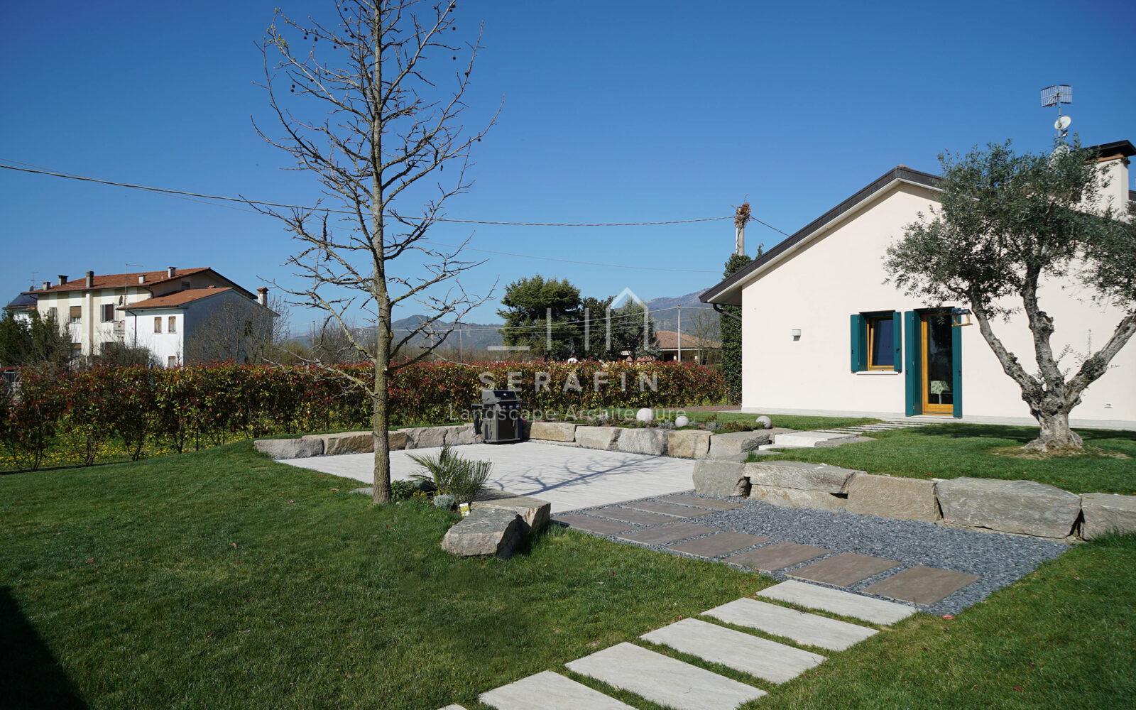 progetto giardino privato moderno a Vittorio Veneto - 2