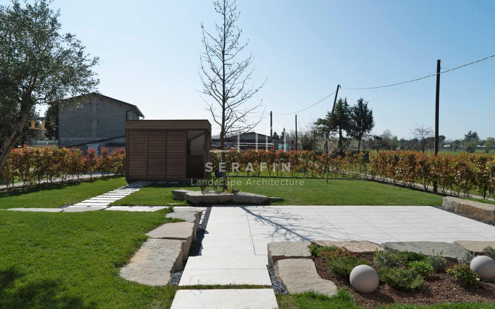 progetto giardino privato moderno a Vittorio Veneto - 7