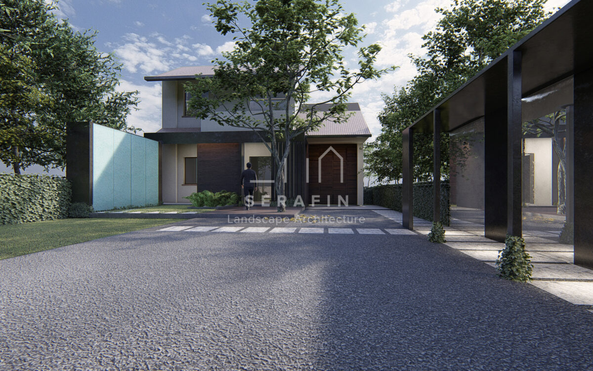 exclusive project garden with a living area in Treviso - 1
