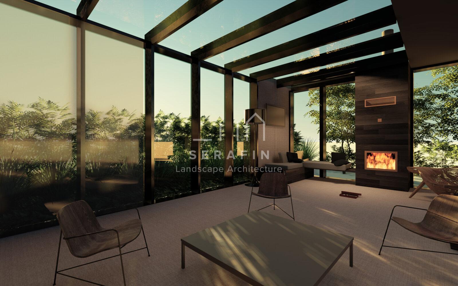 progetto giardino esclusivo con zona living a treviso - 3