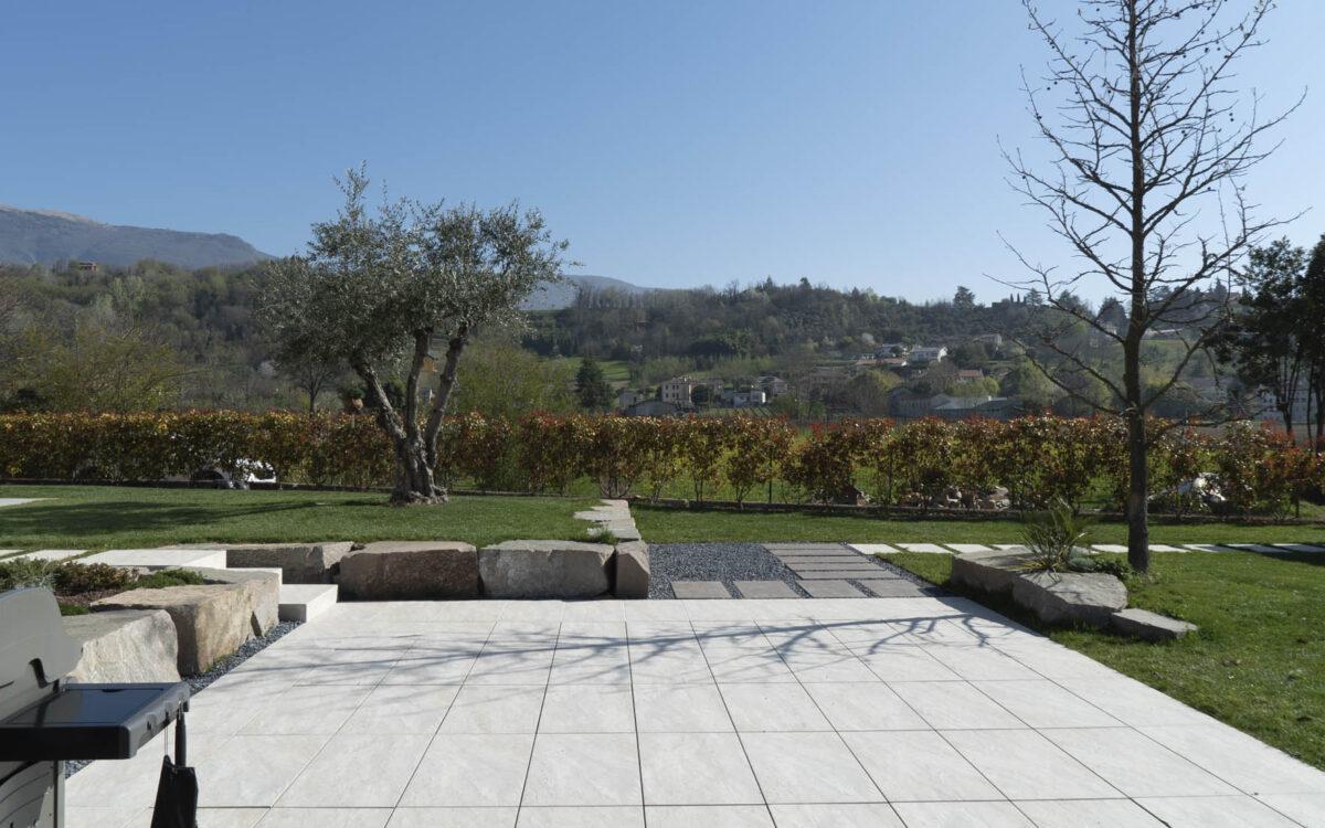 progetto giardino privato moderno a Vittorio Veneto
