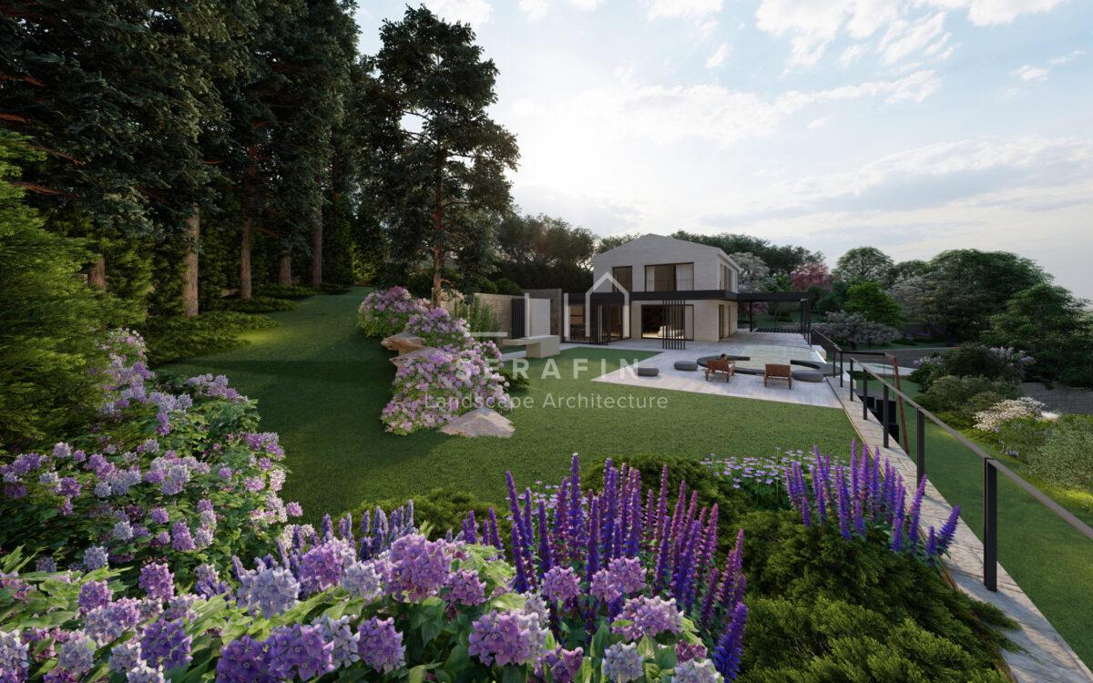 immagine progetto di un giardino di lusso con piscina in Croazia - 2