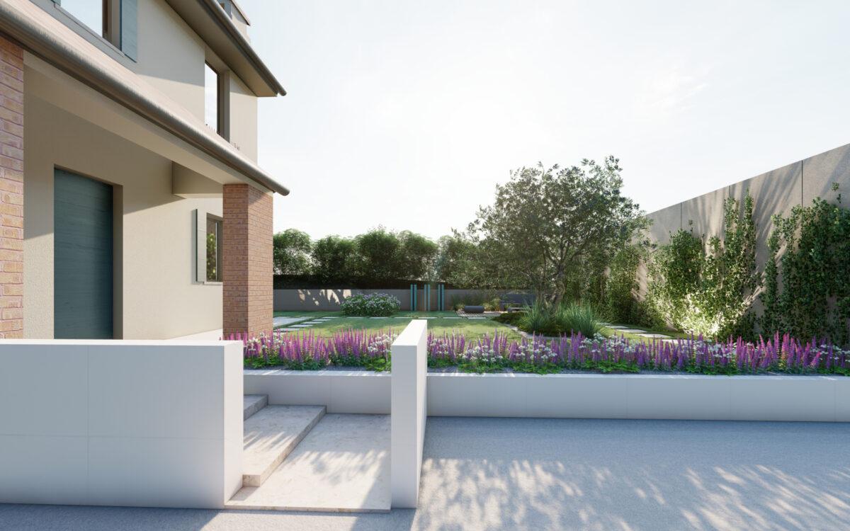 progetto di un giardino privato a Soligo
