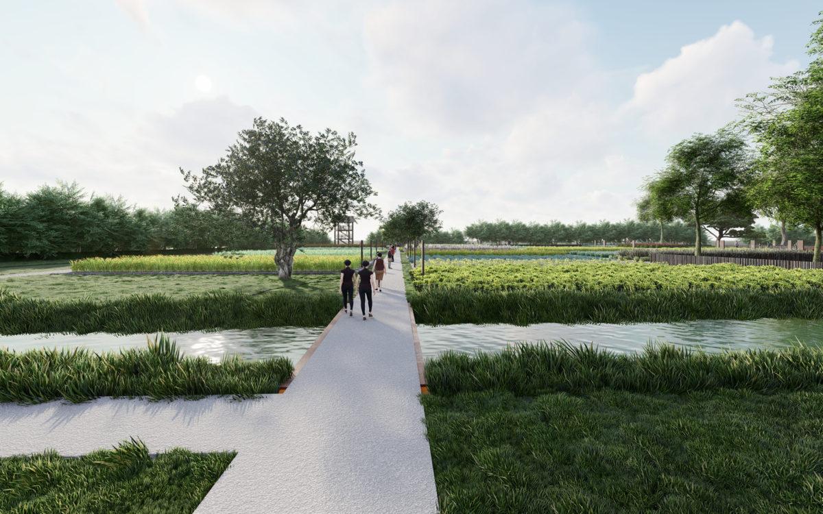 immagine del masterplan di progetto di un nuovo parco a venezia - 1