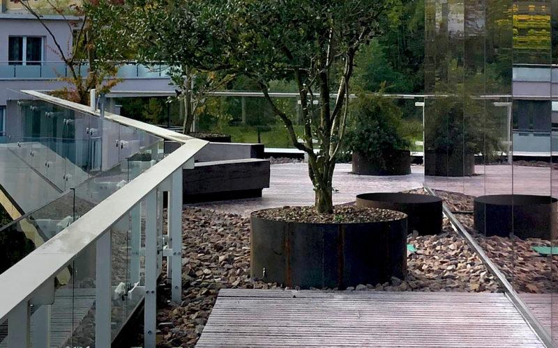 custom garden photo for company headquarters and shops