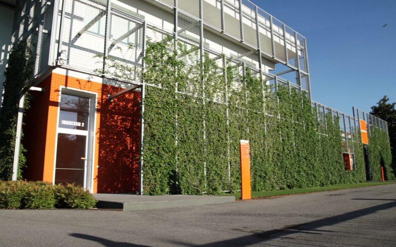 foto verde verticale esterno per sedi aziendali e shop