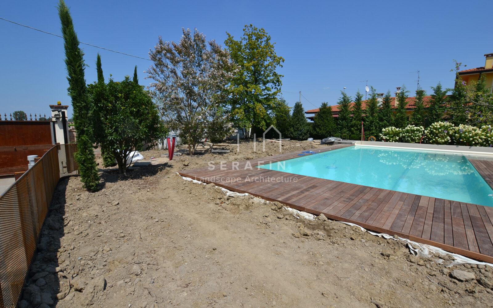 Giardino Per Villa Con Piscina A Verona Progettazione Giardini Serafin